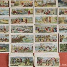 Coleccionismo Cromos antiguos: CRO-074. COLECCION DE 96 CROMOS. CRISTOBAL COLON DESCUBRIDOR DEL NUEVO MUNDO. AÑOS 30. . Lote 59353455