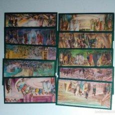 Coleccionismo Cromos antiguos: CROMOS CULTURALES SERIE DE 10 TARJETAS EDICIONES BARSAL BARGUÑO Y SALVAT (BARCELONA) -SAGUNTO-. Lote 59541079