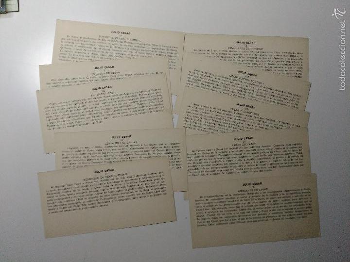 Coleccionismo Cromos antiguos: 10 Cromos Tarjetas Culturales. Ed. Barsal. Julio César. - Foto 2 - 59541427