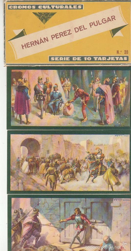 TARJETAS CULTURALES : HERNÁN PEREZ DEL PULGAR (SERIE DE 10 TARJETAS) (Coleccionismo - Cromos y Álbumes - Cromos Antiguos)
