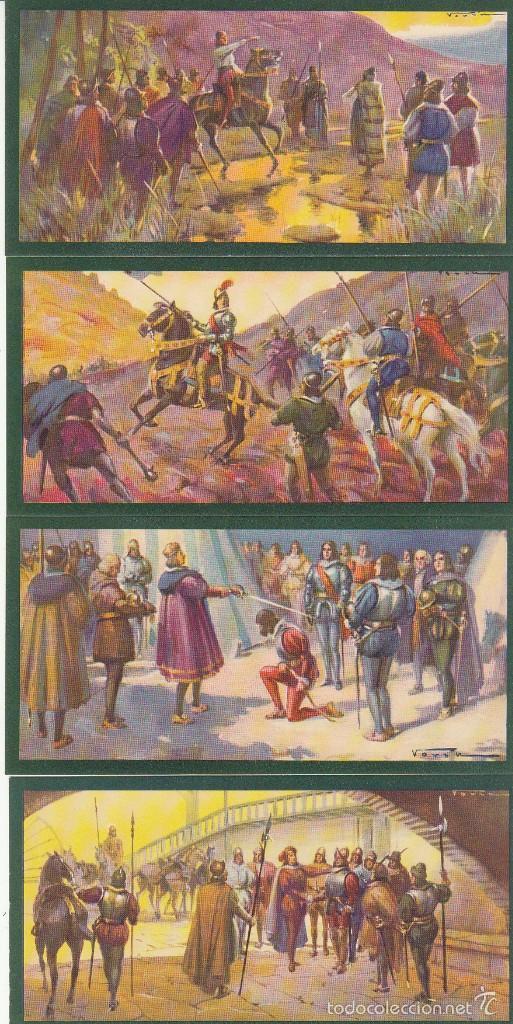 Coleccionismo Cromos antiguos: TARJETAS CULTURALES : HERNÁN PEREZ DEL PULGAR (SERIE DE 10 TARJETAS) - Foto 2 - 60105019