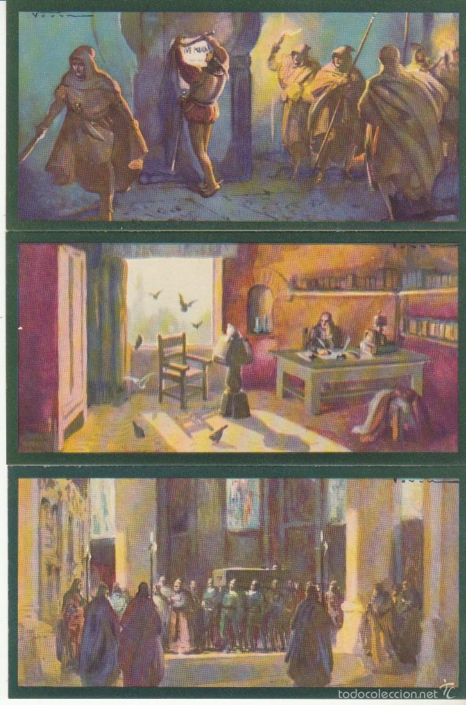 Coleccionismo Cromos antiguos: TARJETAS CULTURALES : HERNÁN PEREZ DEL PULGAR (SERIE DE 10 TARJETAS) - Foto 3 - 60105019