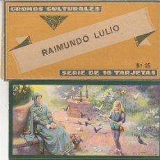 Coleccionismo Cromos antiguos: TARJETAS CULTURALES : RAIMUNDO LULIO (SERIE DE 10 TARJETAS). Lote 60105143
