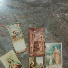 Coleccionismo Cromos antiguos: CINCO CROMOS RELIGIOSOS ANTIGUOS. Lote 60626919