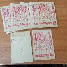 Coleccionismo Cromos antiguos: LOTE DE 20 SOBRE DE CROMOS SIN ABRIR BLANCANIEVES Y LOS 7 ENANITOS ( EDITORIAL RUIZ ROMERO) . Lote 61185903