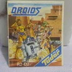 Coleccionismo Cromos antiguos: R2-D2 -Ó- R2D2. CROMO PILAS TUDOR SIN ESTRENAR.SIN DESPEGAR. SERIE EWOKS - DROIDS. MUY BUEN ESTADO.. Lote 61248247
