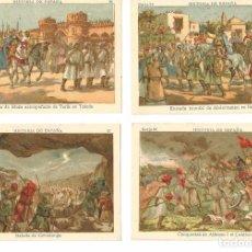 Coleccionismo Cromos antiguos: HISTORIA DE ESPAÑA .- 2ª SERIE .- 4 CROMOS . Lote 62223632
