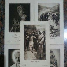 Coleccionismo Cromos antiguos: LOTE DE 5 ESTAMPAS RELIGIOSAS DEL AÑO 1953. Lote 62637070