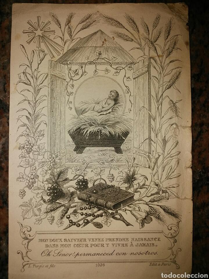 ESTAMPA CROMO RELIGIOSO DEL AÑO 1888. PÁRROCO DE SANTOLEA (Coleccionismo - Cromos y Álbumes - Cromos Antiguos)