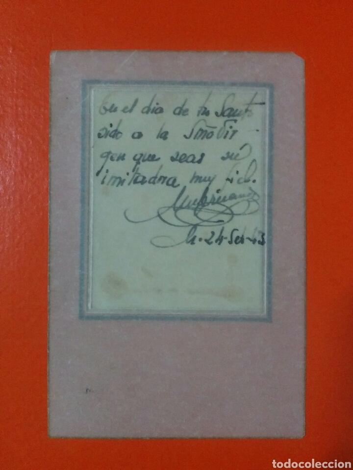 Coleccionismo Cromos antiguos: Cromo religioso o estampa sobre papel translucido tipo papiro 11 X 7 cm - Foto 2 - 62701303