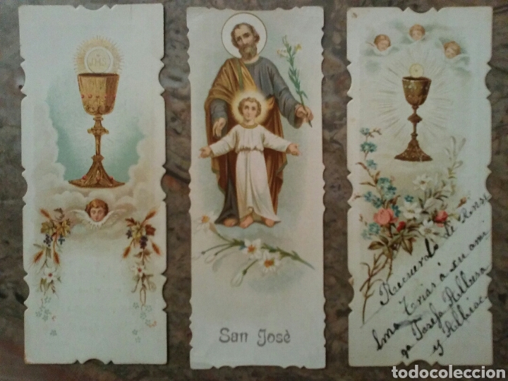 CROMOS RELIGIOSOS TROQUELADOS POR EL CONTORNO, AÑO 1902 (Coleccionismo - Cromos y Álbumes - Cromos Antiguos)