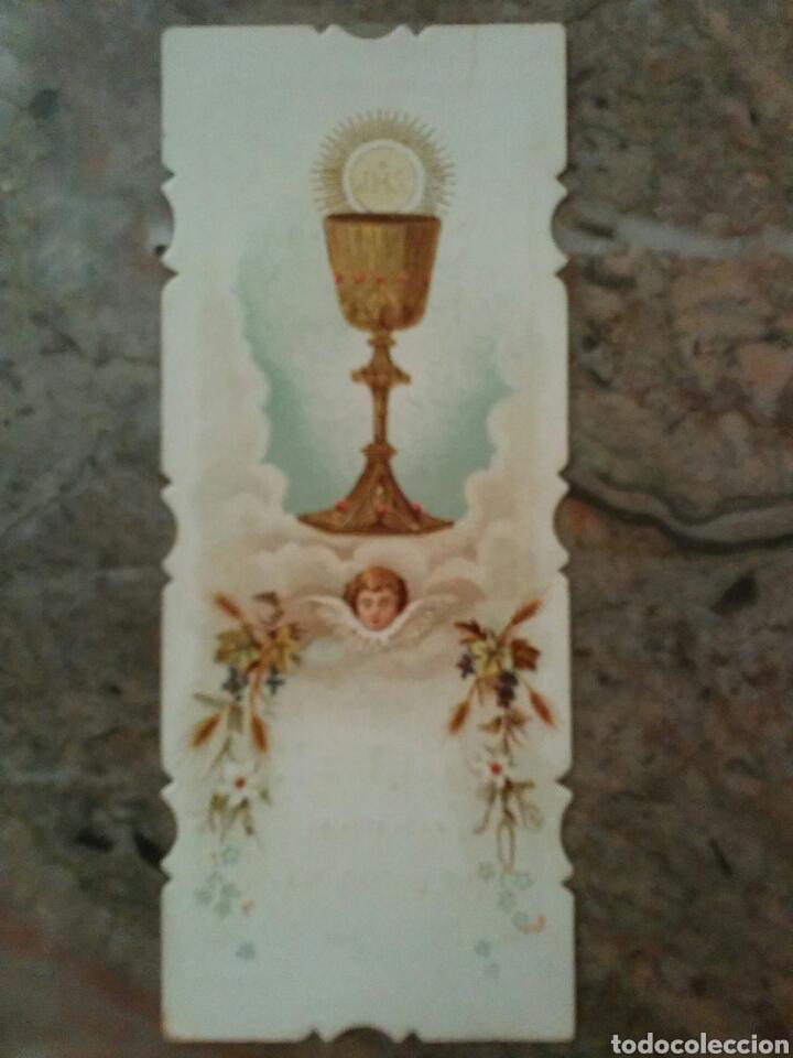 Coleccionismo Cromos antiguos: Cromos religiosos troquelados por el contorno, año 1902 - Foto 2 - 63358300