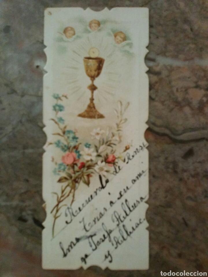Coleccionismo Cromos antiguos: Cromos religiosos troquelados por el contorno, año 1902 - Foto 4 - 63358300