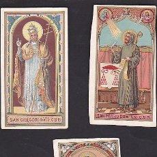 Coleccionismo Cromos antiguos: LOTE DE 3 CROMOS RELIGIOSOS . Lote 63789823
