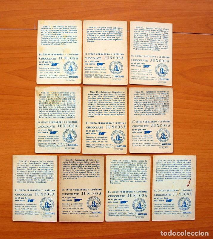 Coleccionismo Cromos antiguos: Cristobal Colón - Chocolates Juncosa - Colección completa 150 cromos - Ver fotos interiores - Foto 11 - 64652691