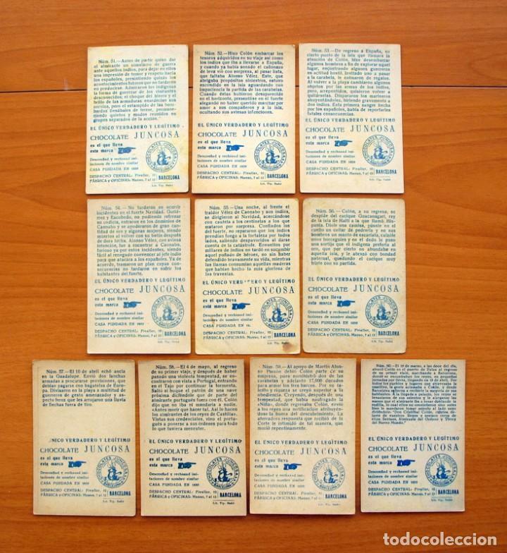 Coleccionismo Cromos antiguos: Cristobal Colón - Chocolates Juncosa - Colección completa 150 cromos - Ver fotos interiores - Foto 13 - 64652691
