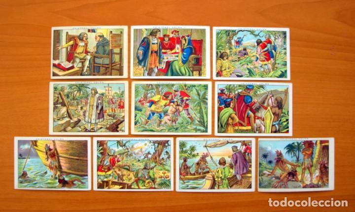 Coleccionismo Cromos antiguos: Cristobal Colón - Chocolates Juncosa - Colección completa 150 cromos - Ver fotos interiores - Foto 14 - 64652691