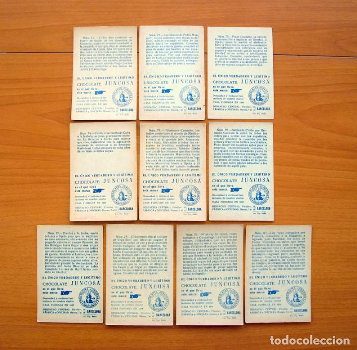 Coleccionismo Cromos antiguos: Cristobal Colón - Chocolates Juncosa - Colección completa 150 cromos - Ver fotos interiores - Foto 17 - 64652691