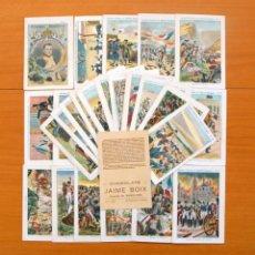 Coleccionismo Cromos antiguos: EPISODIOS HISTÓRICOS DE NAPOLEÓN BONAPARTE - CHOCOLATES JAIME BOIX - COLECCIÓN COMPLETA 30 CROMOS . Lote 65264035
