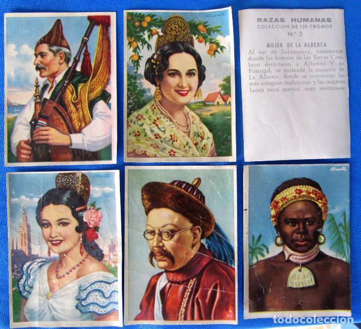 LOTE DE CROMOS. CROMOS SUELTOS; 0,50 €. RAZAS HUMANAS. EDITORIAL BRUGUERA, 1958. (Coleccionismo - Cromos y Álbumes - Cromos Antiguos)