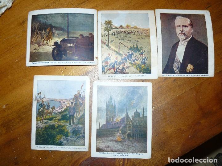 Coleccionismo Cromos antiguos: 15 cromos de chocolates angelical - la primera guerra europea - Foto 2 - 65784054