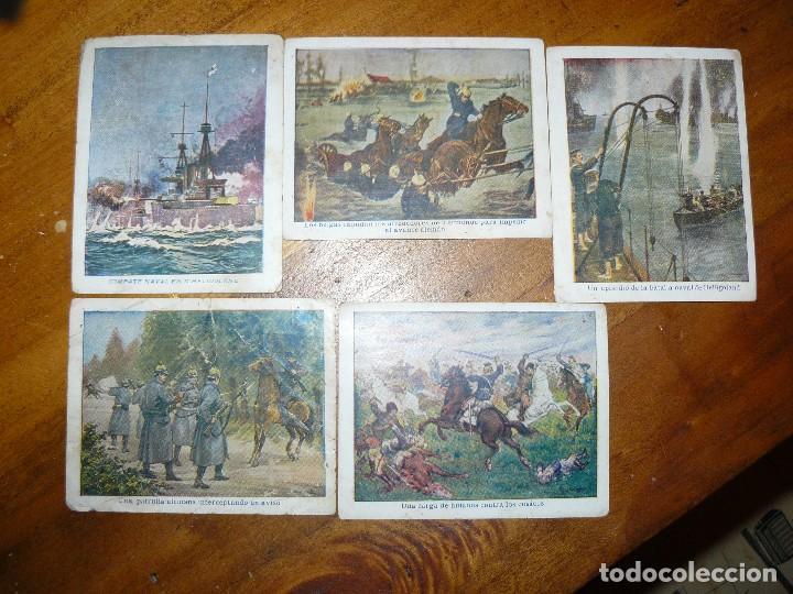 Coleccionismo Cromos antiguos: 15 cromos de chocolates angelical - la primera guerra europea - Foto 3 - 65784054