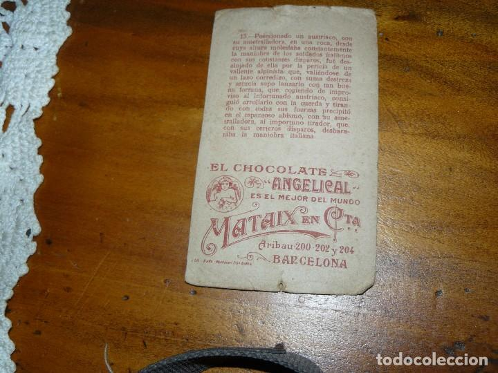 Coleccionismo Cromos antiguos: CROMO Nº 15 - SERIE c - LA GUERRA EUROPEA - EL CHOCOLATE ANGELICAL - Foto 2 - 65792754