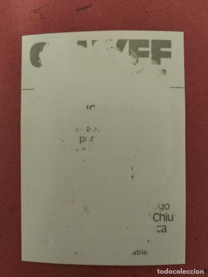 Coleccionismo Cromos antiguos: Cruyff y los colosos de esta liga Cropan Miguel Angel Rodríguez. R.madrid - Foto 2 - 66154538