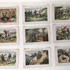 Coleccionismo Cromos antiguos: 37 CROMOS HISTORIA DEL GENERAL PRIM, SIN PUBLICIDAD, A FALTA DE 3 CROMOS PARA COMPLETAR. Lote 66478634