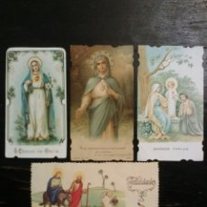 Coleccionismo Cromos antiguos: CUATRO ESTAMPAS CROMOS RELIGIOSOS TROQUELADOS. Lote 66755913