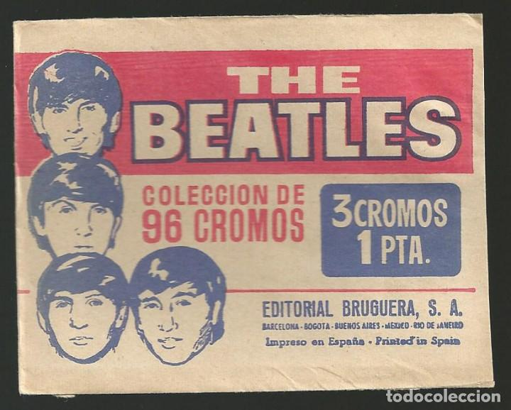 THE BEATLES - SOBRE VACIO DE CROMOS - EDIT. BRUGUERA (Coleccionismo - Cromos y Álbumes - Cromos Antiguos)