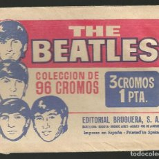 Coleccionismo Cromos antiguos: THE BEATLES - SOBRE VACIO DE CROMOS - EDIT. BRUGUERA. Lote 194531397