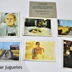Coleccionismo Cromos antiguos: LOTE DE 7 CROMOS DE LA COLECCIÓN -SUPERMAN-. EDIT. FHER. AÑO 1.979. Lote 68048877