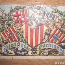 Coleccionismo Cromos antiguos: LOTE 11 CROMOS DE HISTORIA DE CATALUÑA DE JUNCOSA (EN CASTELLANO) AÑOS 20/30. (1 EURO UNIDAD). Lote 68073393