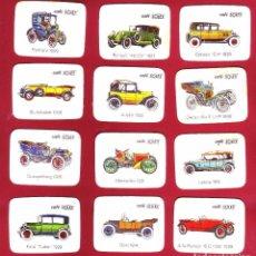 Coleccionismo Cromos antiguos: COLECCIÓN DE UNOS 12 CROMOS DE AUTOMÓVILES DE CAFÉ SOLEY. Lote 71030565