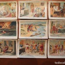 Coleccionismo Cromos antiguos: CRISTOBAL COLÓN. DESCUBRIDOR DEL NUEVO MUNDO. COLECCIÓN COMPLETA 100 CROMOS. CHOCOLATES JUNCOSA. Lote 71134977