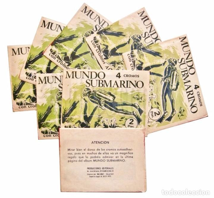 SOBRES DE CROMOS ALBUM MUNDO SUBMARINO EDITORIAL BALLGRAF 1973 (Coleccionismo - Cromos y Álbumes - Cromos Antiguos)