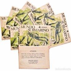 Coleccionismo Cromos antiguos: SOBRES DE CROMOS ALBUM MUNDO SUBMARINO EDITORIAL BALLGRAF 1973. Lote 248303275