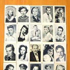 Coleccionismo Cromos antiguos: ESTRELLAS DE LA PANTALLA - EDITORIAL RUIZ ROMERO 1954 - LOTE DE 93 CROMOS DIFERENTES. Lote 72138147