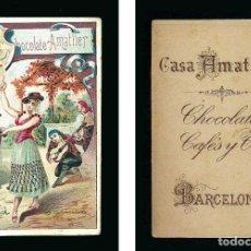 Coleccionismo Cromos antiguos: CROMO CHOCOLATE AMATLLER.. Lote 72219503