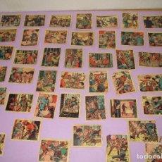 Coleccionismo Cromos antiguos: ANTIGUA COLECCIÓN 47 CROMOS DEL ALBUM * EL COYOTE * EDIT. CASULLERAS - AÑO 1950S.. Lote 73451727