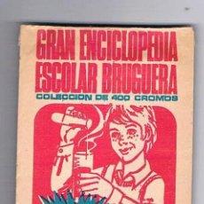 Coleccionismo Cromos antiguos: LOTE 5 SOBRES DE CROMOS SIN ABRIR CERRADOS GRAN ENCICLOPEDIA ESCOLAR BRUGUERA SOBRE CROMO CERRADO. Lote 73700923