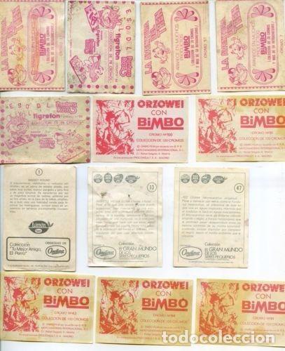 Coleccionismo Cromos antiguos: -LOTE DE 92 CROMOS DE CROPAN ,MEGATON , DANONE, MATUTANO, FHER, PANTERA ROSA, ONDINA NESTLE - Foto 8 - 73805711