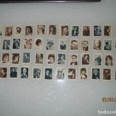 Coleccionismo Cromos antiguos: LOTE DE 49 CROMOS DEL ALBUM CELEBRIDADES CINEMATOGRÁFICAS SERIE D DEL PAPEL DE FUMAR MI PAPEL. Lote 73842719