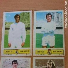 Coleccionismo Cromos antiguos: LOTE DE 4 CROMOS R.MADRID AÑO 1973 /74. Lote 69833749