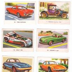 Coleccionismo Cromos antiguos: AUTOMÓVILES DE MAGA, AÑO 1972, LOTE DE OCHO CROMOS. Lote 74297691