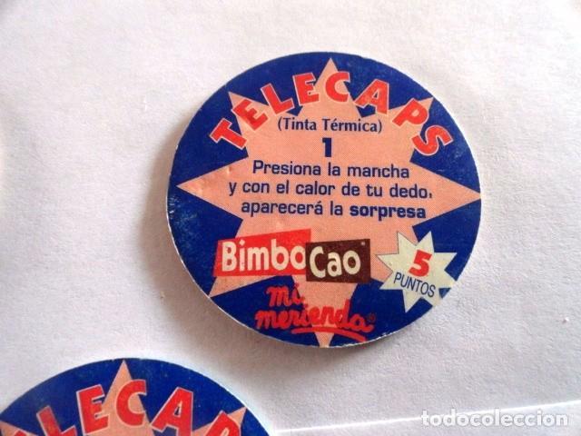 Coleccionismo Cromos antiguos: LOTE DE 8 CROMOS TAZOS TELECAPS BIMBOCAO - Foto 5 - 75056527