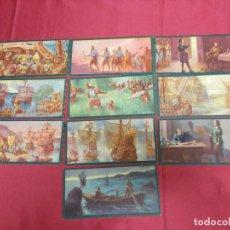 Coleccionismo Cromos antiguos - CROMOS CULTURALES. JUAN SEBASTIAN DE ELCANO SERIE COMPLETA DE 10 TARJETAS. BARSAL. - 75078007