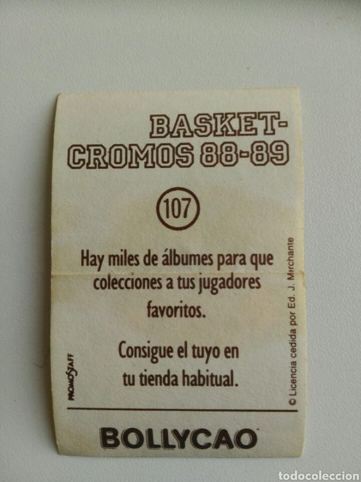 Coleccionismo Cromos antiguos: Cromo basket 88-89 Bollycao n. 107 - Foto 2 - 76052459