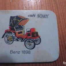 Coleccionismo Cromos antiguos: COCHES CAFES SOLEY. Lote 76764419